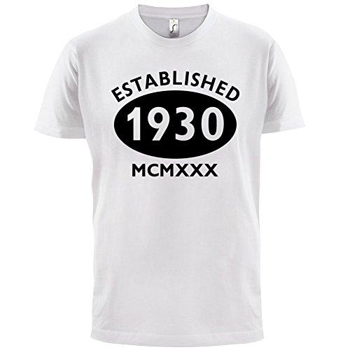 Gegründet 1930 Römische Ziffern - 87 Geburtstag - Herren T-Shirt - 13 Farben  Weiß