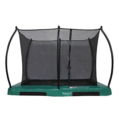Etan Hi-Flyer Outdoor Boden Trampolin Komplett - Inground Kinder Trampolin Set inklusiv starkem Sicherheitsnetz, UV-beständiges Randabdeckung und Sprungmatte - Gartentrampolin - Grün - Ø 305 cm