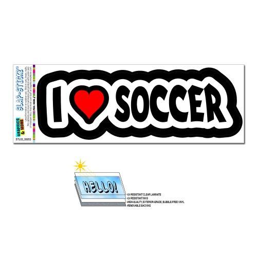 I love Herz Fußball Slap-Stickz Aufkleber Automotive Auto Fenster Spind Bumper Kofferraum Aufkleber (- Fussball-fenster-abziehbild)