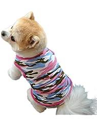 Gilet chien Elyseesen Chiot mignon chien été dévolus pet puppy de chemise robe gilet