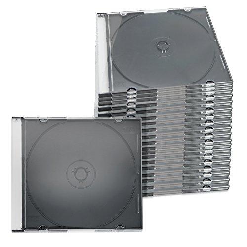 ENERGMiX 100x CD Slim Hüllen Slimcase 1 Fach mit schwarzem Tray 5,2 mm (100er Pack)