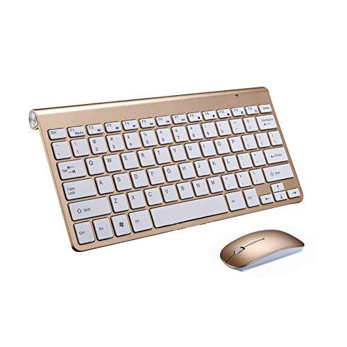 Tastatur 78 Tasten USB Android Dünn Quiet Ultra Dünn Laptop Kabellos mit Maus Windows X Architektur Desktops (Schwarz) - Gold - Multimedia Keyboard Treiber