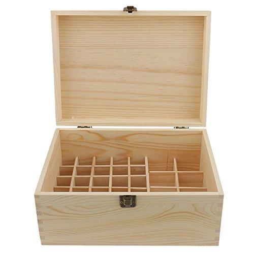Sharplace Boîte de Rangement d'Huile Essentielle Organisateur Coffret en Bois avec 38 Casiers (2-100ml)