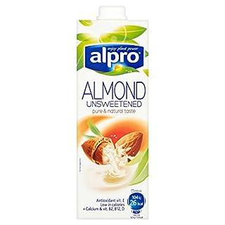 ( 8 Pack) Alpro Almond Unsweetend - 1Ltr
