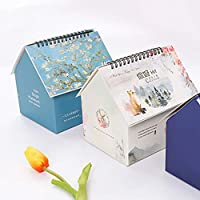 SADA72 2019 Wall Calendar, Folding Table Month to View Desk Office Family Planner & Daily Scheduler