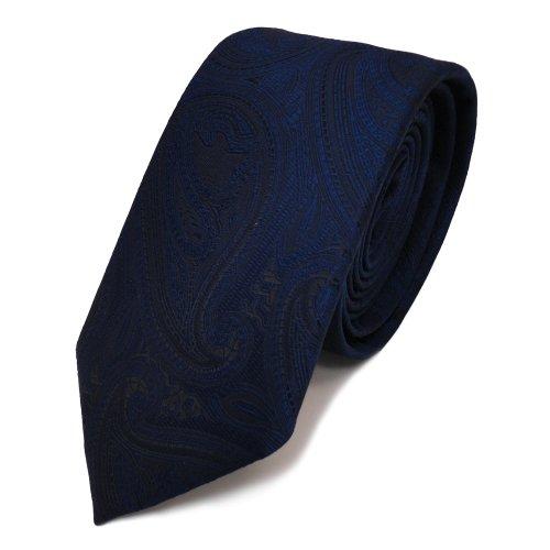 TigerTie - Cravatta moda stretto - blu