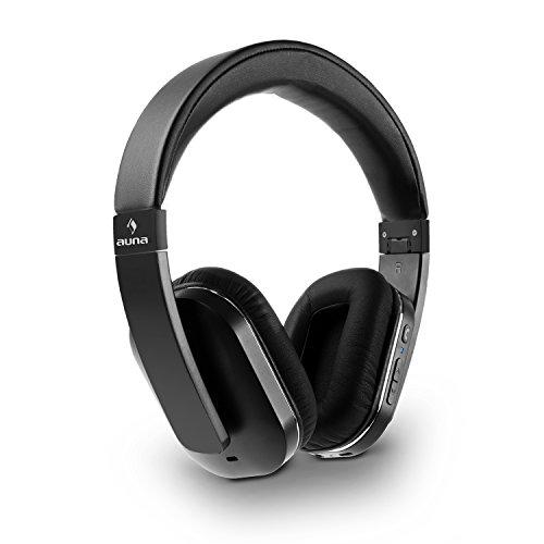 auna Elegance • Bluetooth-Kopfhörer • Bluetooth-Headphones • Wireless-Headphones • Bluetooth 4.0 • aptX • Freisprech-Funktion • Funktionstasten • NFC • 14h Betriebszeit • faltbar • schwarz