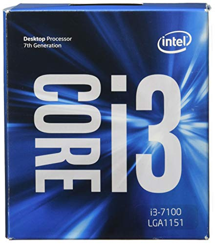 Intel BX80677I37100 - 51W Core i3-7100 Kaby Lake de doble núcleo a 3.9 GHz LGA 1151, procesador de escritorio Intel HD Graphics 630