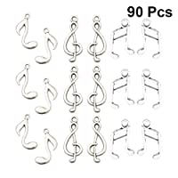 BESPORTBLE 90pcs Music Charms Musical Instrument Notes Symbols Pendants DIY for Necklace Bracelet Earrings Jewelry Making and Crafting (Silver)