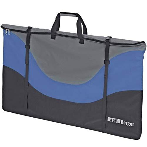 Berger Universal Packtasche Campingstühle Tische Liegen, blau grau, 125x75x15cm