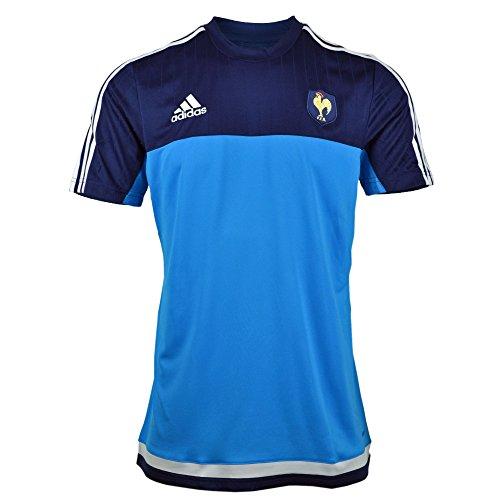 50a04a3ba29 adidas – Camiseta para hombre FFR Francia rugby Performance Azul  Solblu/Dkblue/White Talla