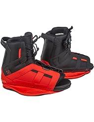Ronix District - Botas de wakeboard para hombre, color rojo, talla 37-41.5