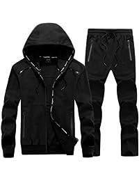 Fashions Ensemble de survêtement pour hommes Sweat à capuche Haut manteau  Bas Jogging Zip Jogger Gym 3a42f357a7f1