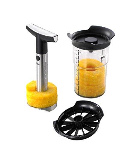 GEFU 13550 Ananasschneider Professional Plus - Messer und Schäler Set für Ananas - Edelstahl...
