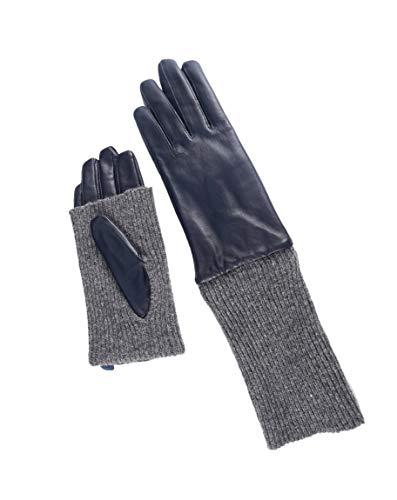 06de6d5e1661a9 YISEVEN Damen Lange Lederhandschuhe Touchscreen, Fleecefutter Winter Warme  Echt Leder Handschuhe Gefüttert Lammfell Damenhandschuhe Elegante