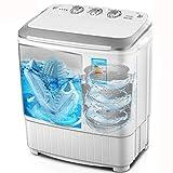 2 in 1 Scarpe e Indumenti Lavatrice e asciugatrice Spazzola per Scarpe e asciugatrice Mini Macchina per Lavanderia UV Blu Chiaro