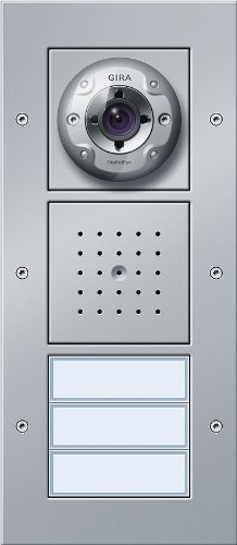 Gira 127065 Video Door Intercom AP 3-Panel Aluminium-Coloured