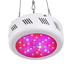 Roleadro LED Grow Lampe 300W UFO Pflanzenleuchte Wachstum Led Grow Light für Zimmerpflanzen Wachstum im Growbox/Gewächshaus/Grow Tent mit IR UV 10000K Weiß Licht