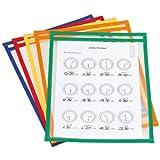 TimeTEX Lern- und Sammeltaschen A4-Plus mit Farbeinfassung - 10 Stück - 64335