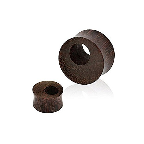 Piercing plug tunnel en bois organique Taille 12 mm