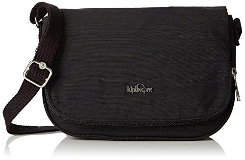 Kipling Damen EARTHBEAT S Umhängetasche Schwarz (Dazz Black) (Kipling One-shoulder-bag)