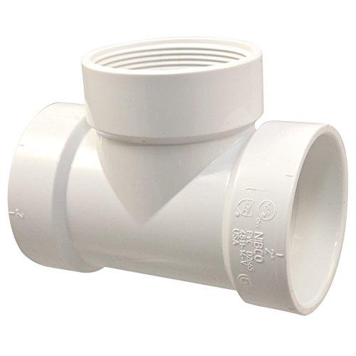 NIBCO 4811-14-V Test Tee H x H x FIPT - PVC DWV, 3, White by Nibco (Pvc-dwv)