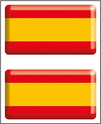 Artimagen Pegatina Bandera Rectángulo 2 uds. España