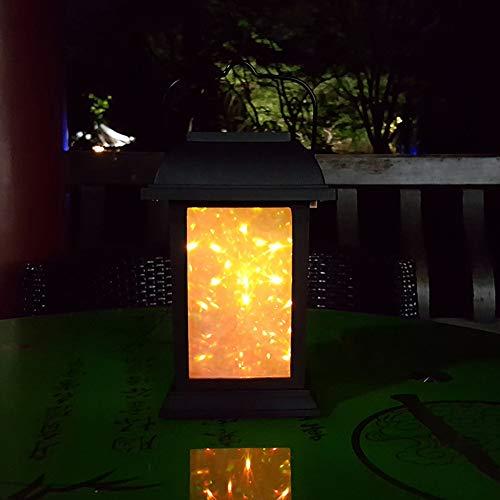 Xuba - Lámpara LED de Paisaje con Efecto de Chimenea 3D, Impermeable,...