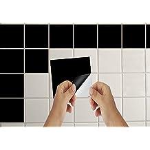 Lorcoo 50 pcs/Set pegatinas de azulejos baño y cocina azulejos adhesivos, 15cm * 15cm Adhesivo para azulejos azulejo-como pegatina para la sala de estar de la cocina Bathroom