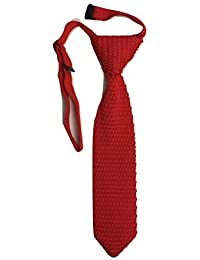 L&L® High Quality Boys Kid Children Knit Knitted Tie Slim Skinny Woven Pointed UK