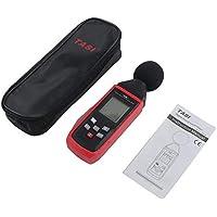 leanBonnie Sonomètres numériques 30~130dB Décibelmètre Détecteur de bruit Enregistreur audio numérique Outil de diagnostic audio TA8151-Red & Black