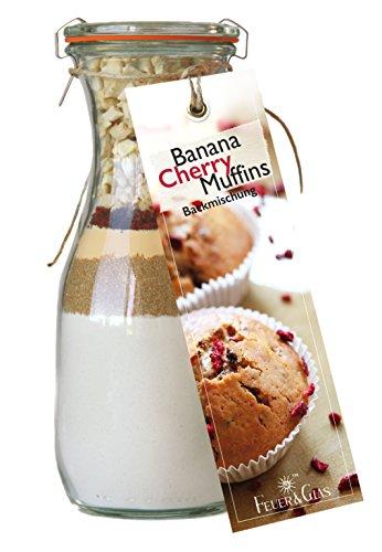 für Banana Cherry Muffins – Raffinierte Geschenkidee für Backfreunde – Gourmet Backzutaten im Weckglas für Bananen-Kirsch-Muffins – von Feuer & Glas (Halloween-kuchen Und Gebäck)
