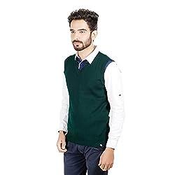 Numero Uno Green Sleeveless Sweater (X-Large)