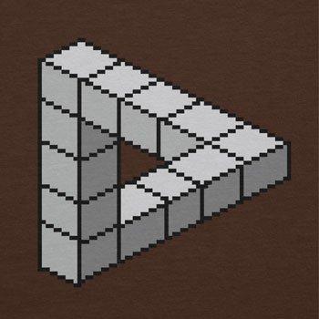 TEXLAB - Optical Illusion Triangle - Herren T-Shirt Braun