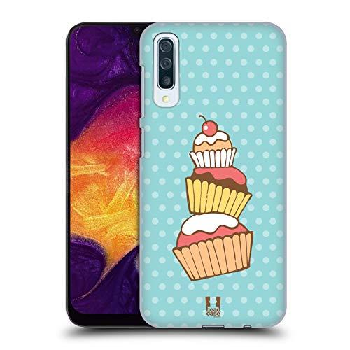 Head Case Designs Stack Cupcakes Harte Rueckseiten Huelle kompatibel mit Samsung Galaxy A50 (2019)