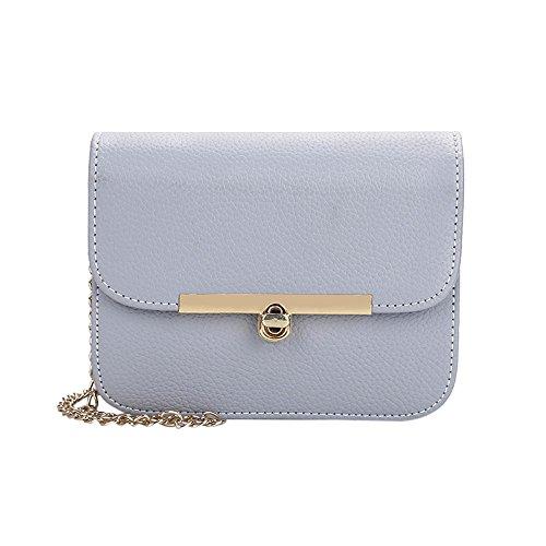 Gesteppte Tasche Mini Tote (Frauen Mode Kette Abendtasche mit Metallschloss Phone Handtasche Crossbody Umhängetasche Damenhandtaschen Mädchen Leder Schultertaschen Messenger Tasche (Blau))