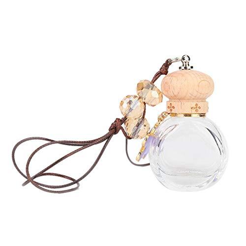 Auto-Parfüm-Anhänger Leere Parfümflasche, Verzierungs-Anhänger des ätherischen Öls(Lila) -