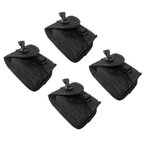 MagiDeal 4 Stücke Tauchen Bleigürtel Taschen Tauchgürtel Bleigurt Ersatz Gewicht Gürtel Tasche, Schwarz