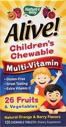 NATURE'S WAY ALIVE!MULTI-VIT,CHEW,KIDS, 120 CHEW (120 Chews)