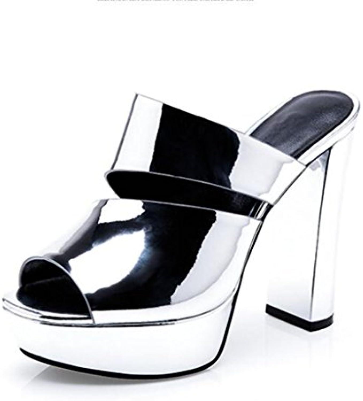 MUMA avec Escarpin Plate-forme imperméable à l'eau rugueuse avec MUMA des sandales chaussures marée féminine 2018 modèles...B07CKV6RJZParent 57e718