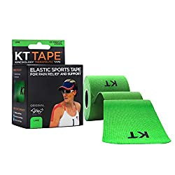 KT TAPE Original Cotton Elastic Kinesiology Therapeutic Tape - LIME - 20 Pre-Cut 10-Inch Strips