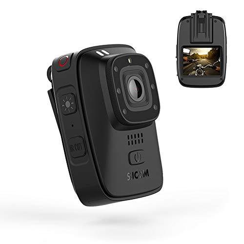 Telecamera per Il Corpo, Telecamera Portatile IR Impermeabile con Display da 2 Pollici, GPS per Visione Notturna 2650Mah GPS per Registratore di Forze Dell'ordine Uso Personale