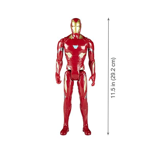 Marvel- Figura Titan Hero Series Infinity War, Iron Man (Hasbro E1410EU4) 6