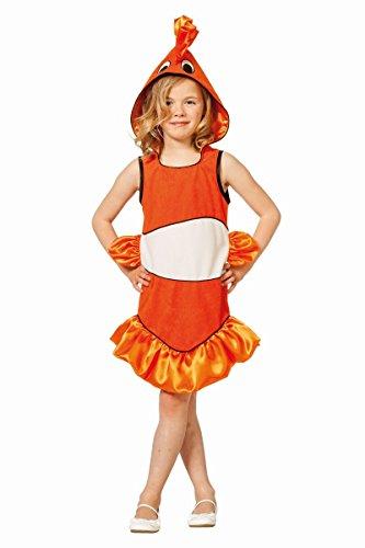 Kinder Kostüm tropischer Fisch in orange Karneval Fasching Gr.152 (Tropischer Fisch Kostüm)