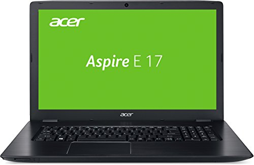 Acer Aspire E 17 (E5-774-31WK) 43,9 cm (17,3 Zoll HD+) Notebook (Intel Core i3-6157U, 8GB RAM, 1000GB HDD, Intel HD Graphics, Win 10) schwarz