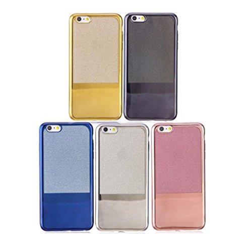 Phone case & Hülle Für iPhone 6 / 6S, galvanisierender Spiegel TPU schützender rückseitiger Abdeckungs-Fall ( Color : Black ) Rose gold