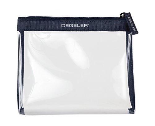 DEGELER Transparente Kulturtasche |Für Flüssigkeiten & Kosmetik im Handgepäck & Flugzeug| verschließbare Kosmetiktasche| auch für die Handtasche als Make-up Schminktasche & Kulturbeutel geeignet