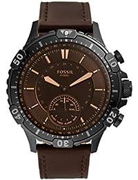 FOSSIL Hybrid Garrett -Smartwatch con Correa de Cuero marrón para Hombre - FTW1192