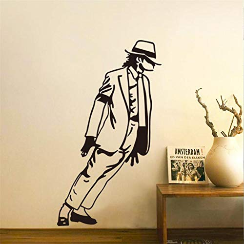 YXWYSQ Tanzen Michael Jackson Junge Mädchen Fans Schlafzimmer Dekor Wandaufkleber Abziehbilder Poster Home Decor Musik gut aussehend Geschenk33x54cm (Jackson Home Decor Michael)