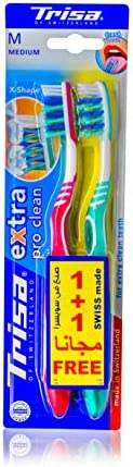 Trisa Extra2 Duo Medium Toothbrush- Assortment